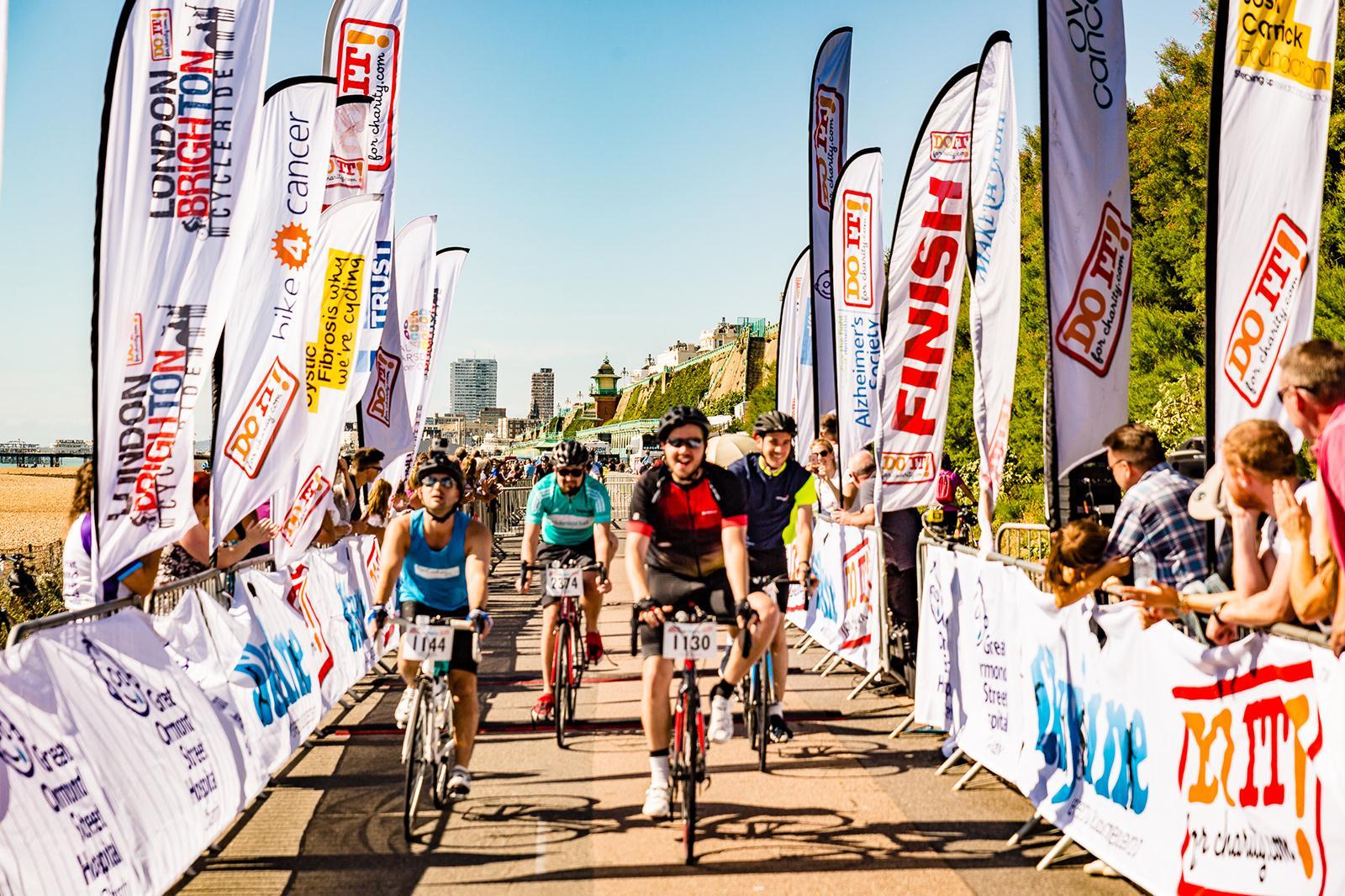 London to Brighton Bike Ride Finish Line